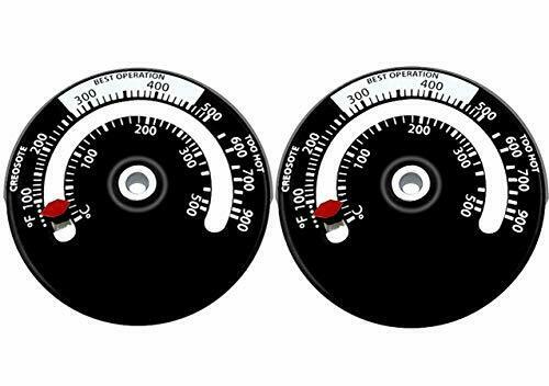 Magnetic Wood Stove Thermometer Fire Stove Pipe for Avoiding Stove Damaged 2Pack $11.23