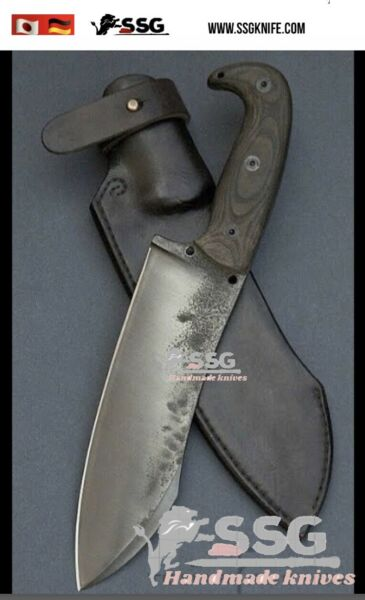 Custom Forged High Carbon Hunting Survival D Bowie Knife 12.5 Inches $110.00