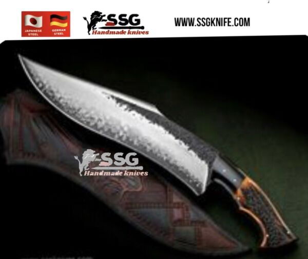 Custom Forged High Carbon Hunting Survival D Bowie Knife 14 Inches $199.00