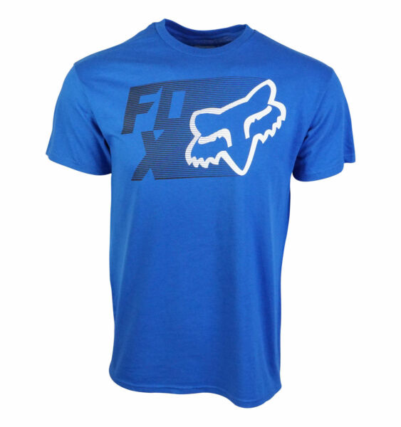 FOX RACING MENS TRACK T SHIRT ROYAL BLUE