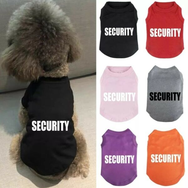 Small Medium Dog Spring Clothes Pet Puppy Costume Dog Cat Sports Apparel Vest $5.99