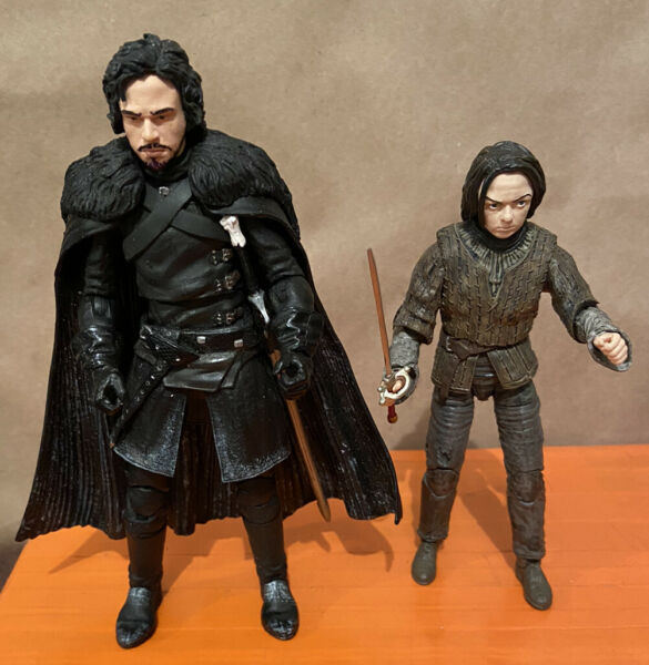 6quot; Game of Thrones John Snow amp; Arya Stark Funko figures complete amp; loose No Box