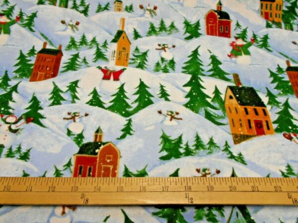 1 yard Let it Snow Christmas FLANNEL Fabric