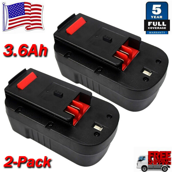 2 Pack HPB18 18V Battery for Black amp; Decker HPB18 OPE Firestorm 244760 00 FS18BX