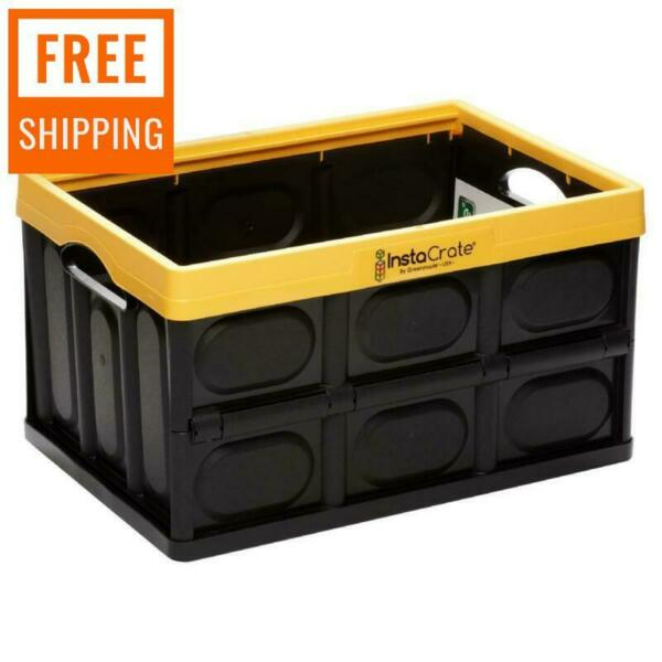 Collapsible Storage Box Durable Stackable Folding Plastic Utility Crate $27.84