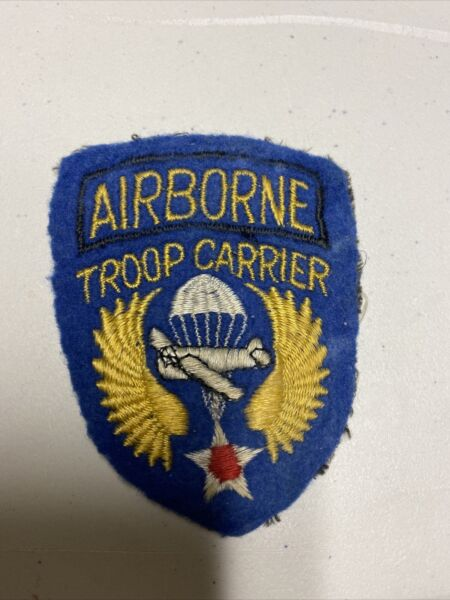 H0602 WW2 US Army Air Force AAF Airborne Troop Carrier Unit Shoulder Patch IR45A $60.00