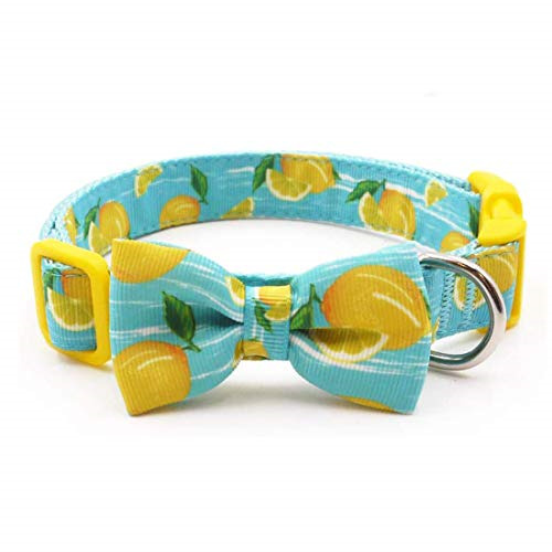 azuza Dog Collar Bow Tie Soft Adjustable Bow tie Dog Collars for Medium Dogs $13.18