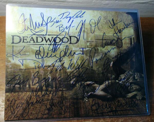 RARE Deadwood Signed Autographed 18 CAST Poster 14x11 HBO Mcshane Olyphant