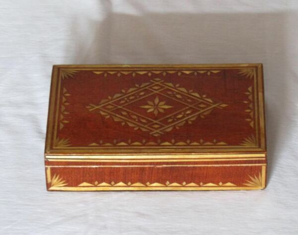 wooden box vintage wooden box vintage wooden box with lid Russian box Rustic