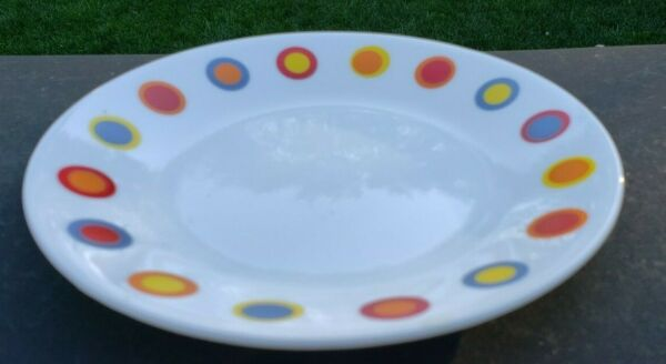 Pyrex Corelle Corning Hot Dots Coffee 6¾quot; Bread amp; Butter Pie Plate