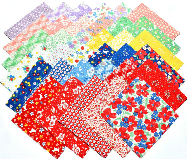 30#x27;s PLAYTIME Charm Pack from MODA 42 5quot; factory cut squares #33590PP