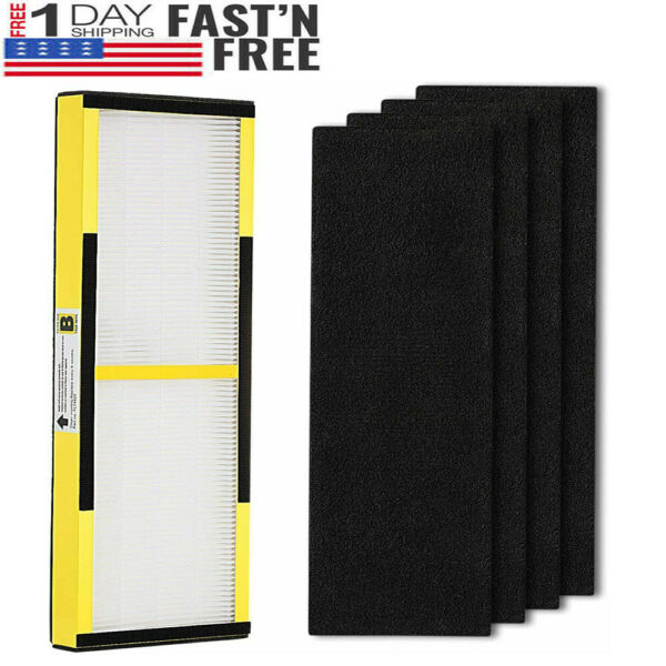 HEPA Air Filter Size B For GermGuardian FLT4825 Replacement 4x Carbon Cottons $13.49