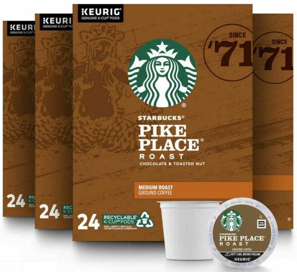 Starbucks Pike Place Medium Roast Coffee K Cups Pods 96 Count BEST BEFORE 2.21