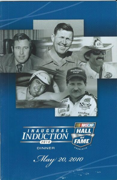 2010 DALE EARNHARDT RICHARD PETTY 3 HALL OF FAME INAUGURAL INDUCTION DINNER