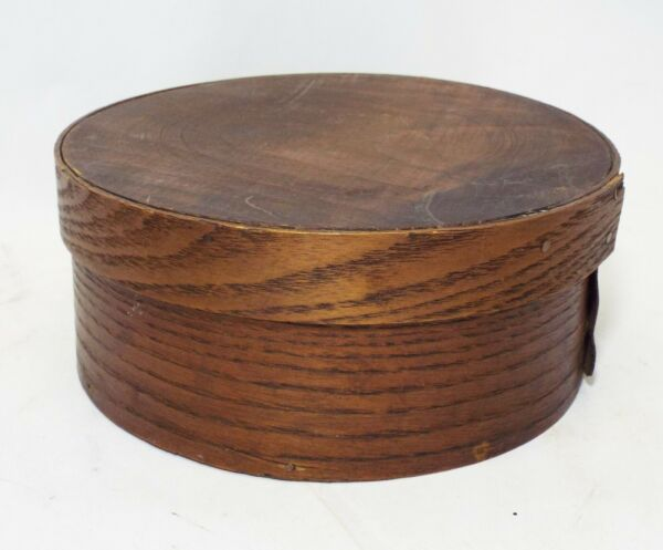 SMALL Old Antique BENT WOOD PANTRY BOX w Lid Kitchen PRIMITIVE