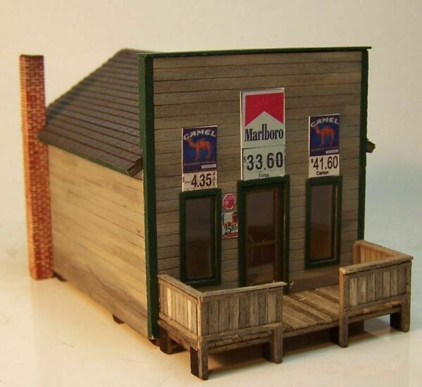 RS LASER WOOD KITS N GAUGE TOM#x27;S COUNTRY STORE #3038 NEW $29.99