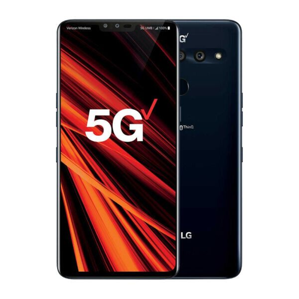 LG V50 ThinQ 5G 128GB Aurora Black Unlocked Smartphone