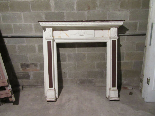 ORNATE ANTIQUE FIREPLACE MANTEL 60 x 58 ARCHITECTURAL SALVAGE