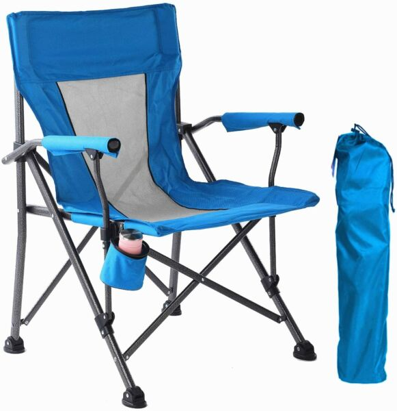 Lightweight Camping Chair Aluminum Frame Folding Camp Chair with Carry Bag