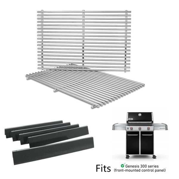 Stainless Steel Cooking Grates Flavorizer Bars For Weber Genesis 310 320 330