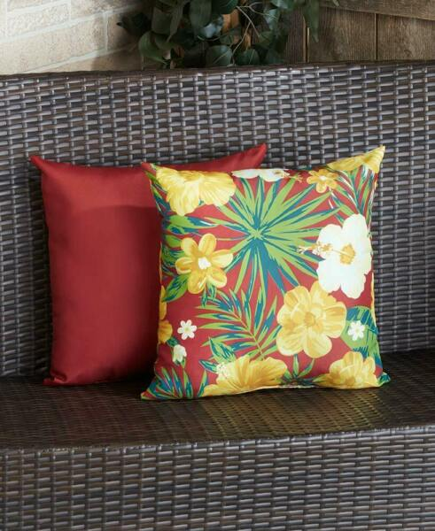 Outdoor Cushion Tropical Indoor Outdoor Patio Pillow $35.49