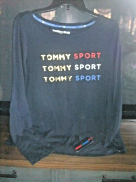 Tommy Hilfiger Sport Women XL Navy New w Tag Top Msrp $39 Has Tommy Logo Front $9.99