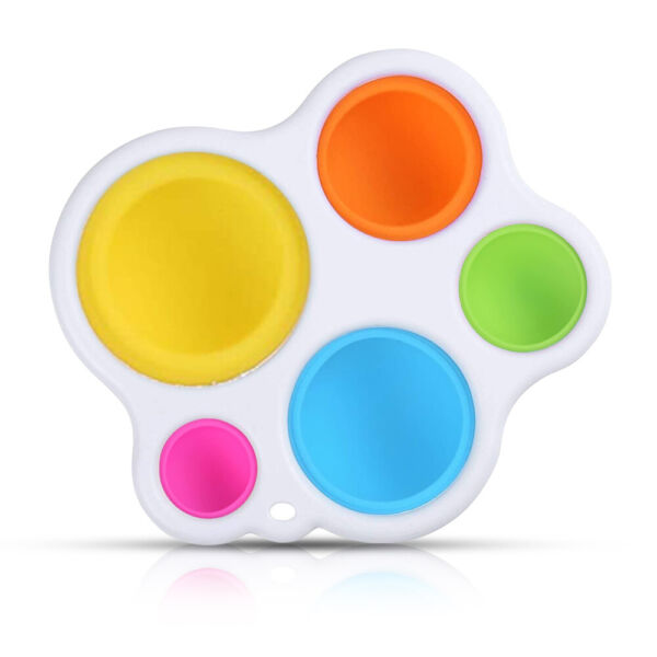 Baby Simple Dimple Sensory Fidget Toy Silicone Flipping Board Kids Adult Gift $7.59