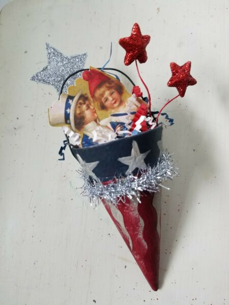 Bethany Lowe Inspired Vintage 4th of July Cone