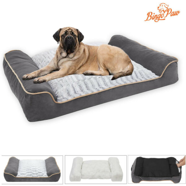 Thicken Waterproof Extra Large Dog Bed with Pillow M L XL XXL fit 37 154 lbs Dog $48.94