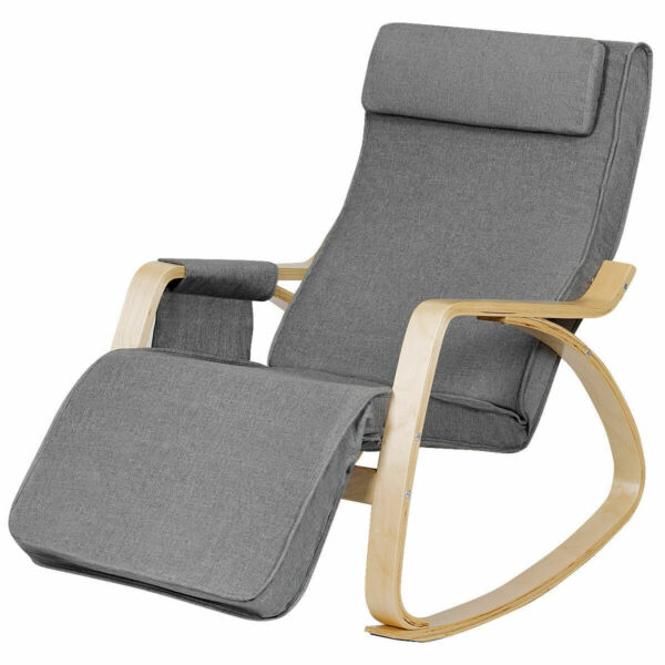 Adjustable Relaxing Lounge Chair Comfortable Rocking Chair for Living Room