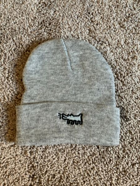 Keith Haring Dog Gray Beanie One Size $15.00