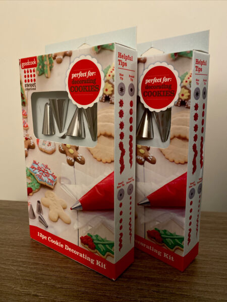 🧁 DECORATING KIT 2 PACK 12pc Each DISPOSABLE BAGS TIPS For COOKIES amp; CAKES A7 $13.67