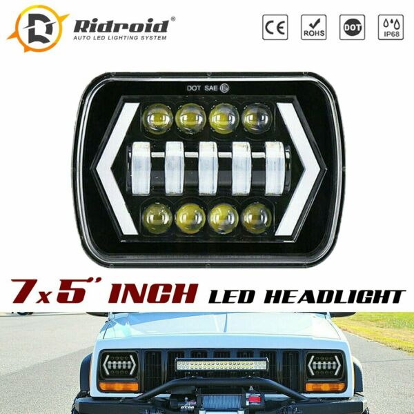 For Toyota Nissan Pickup truck 5X7 7X6 INCH LED Headlight H6054 Sealed Beam $32.99