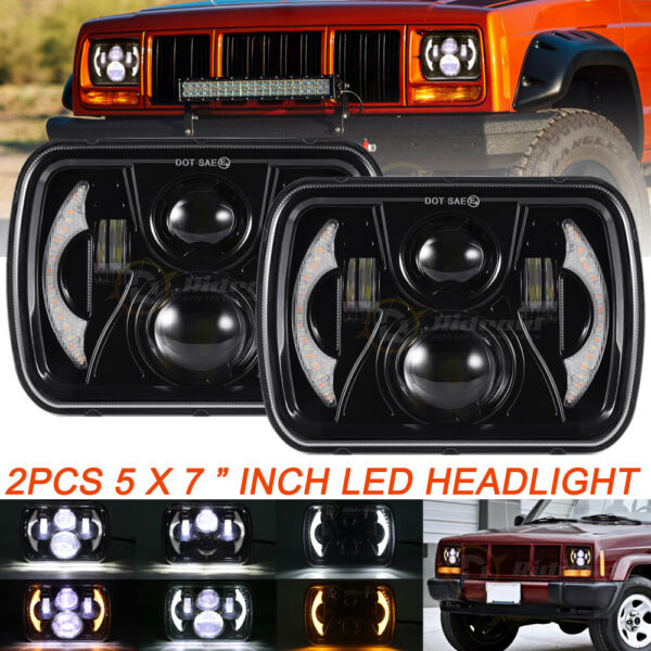 2x FOR TOYOTA PICKUP TRUCK 7X6inch 5X7quot; Rectangle LED HI LO DRL H6054 HEADLIGHT $62.89