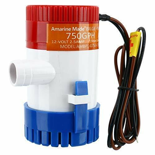 Amarine Made 12V 750GPH Boat Marine Plumbing Electric Bilge Pump for Boat Yacht