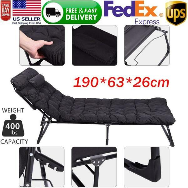 Indoor Portable Guest Single Foldable Folding Bed Recliner Travel Home Camping