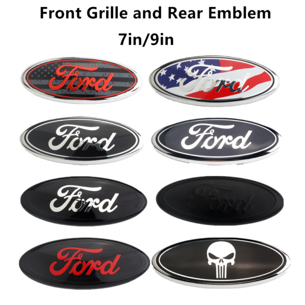 New OEM Front Grille Rear Trunk Oval Emblem 7 9 inch Fits Ford F150 F250 F350 $15.99