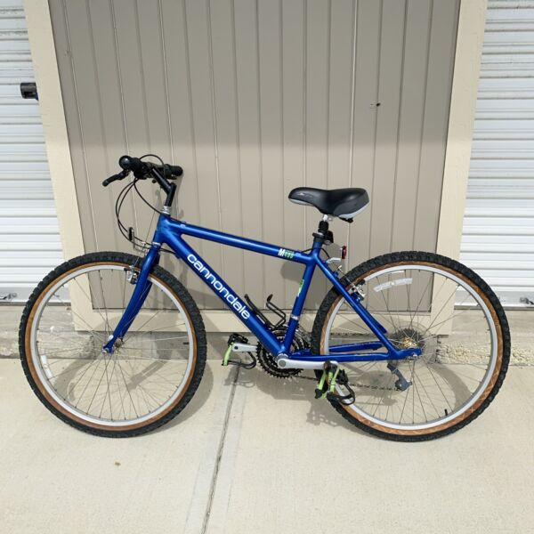 Vintage 1993 Cannondale M400 Blue Mountain Bicycle Made In USA $250.00