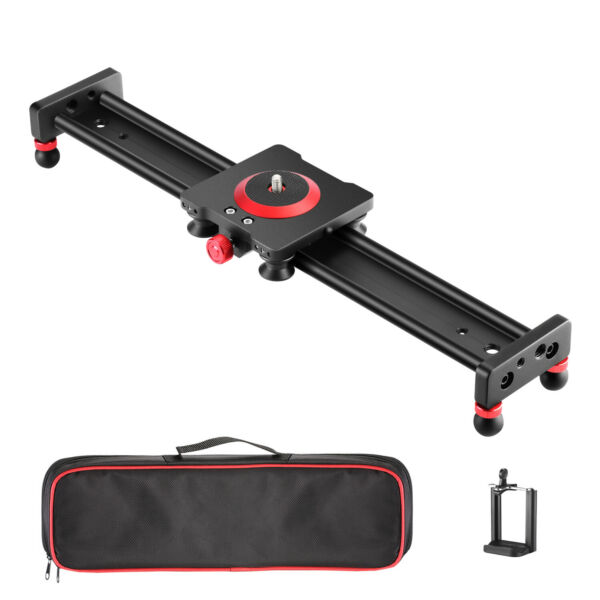 Neewer Camera Slider Aluminum Alloy Dolly Rail16 inches with 4 Bearings