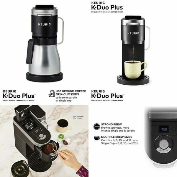 New Keurig K Duo Plus Coffee Maker Single Serve Compatible with K Cup Pods
