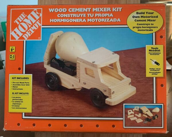 The Home Depot Wood Cement Mixer Kit for Children 8 $22.00