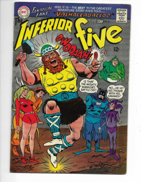Inferior Five 4 VG 4.5 9 10 67 DC Thor appearance Very Funny Stuff $7.99