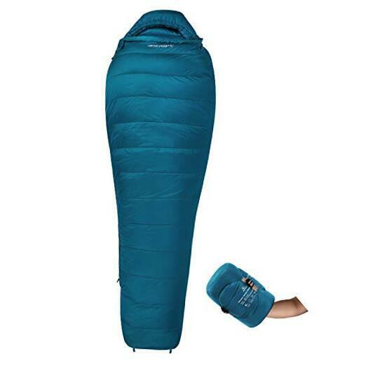 Mummy Goose Down Sleeping Bag Ultralight for Backpacking 59 1.86lbs Cyan $119.98