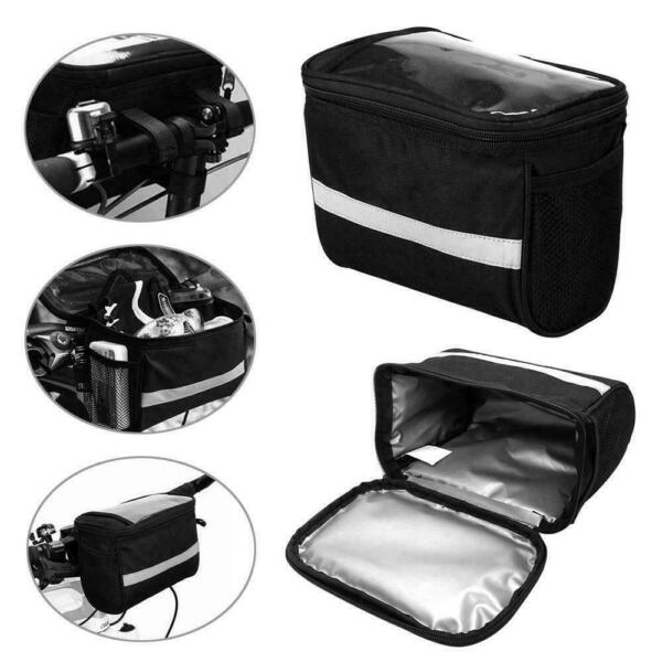 Bicycle Handlebar Bag Cycling Front Pack Bike Bag Rear Frame Accessories $8.99