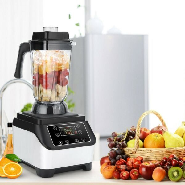 2500ml Blender Smoothie Maker Touch Screen Electronic Countertop Blenders 2200W