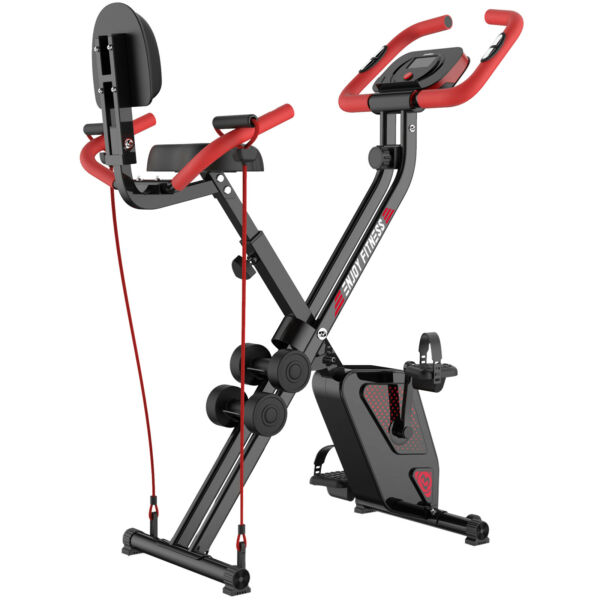 Folding Stationary Upright Indoor Resistance Cycling Exercise Bike Gym Workout $141.09