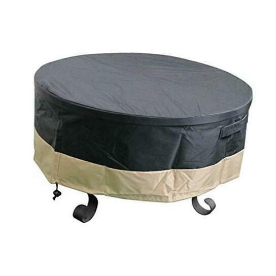 Outdoor 30 Inch Round Fire Pit Cover for Fire Pit Table Fire Bowl 600D 30quot;