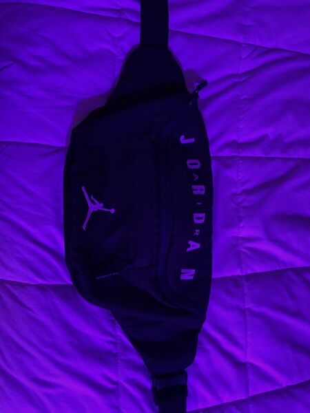 Nike Air Jordan Jumpman Sling Bag Black White Waist Fanny Pack 9A0092 023
