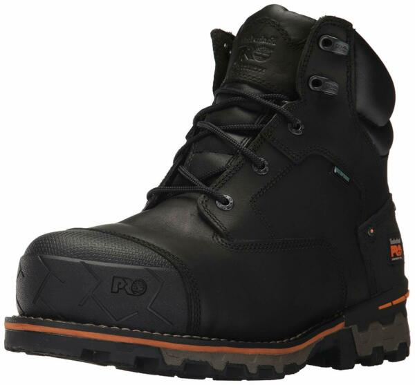 Timberland Mens Boondock 6quot; Leather Composite toe Lace Up Safety Black Size Z $81.29