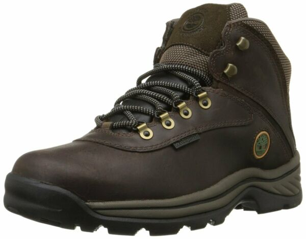 Timberland Mens white ledge Leather Round Toe Ankle Safety Dark Brown Size My $60.00